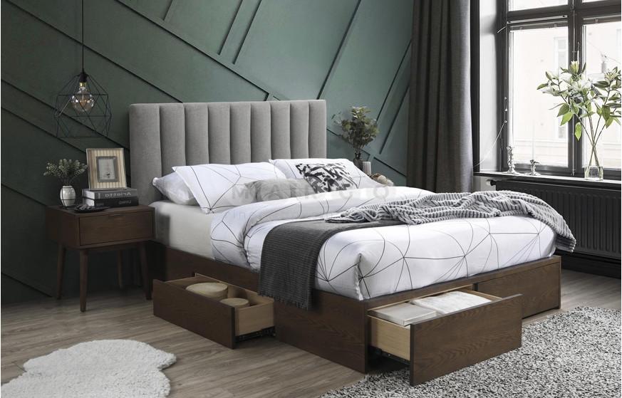Кровать GORASHI 160 серый/орех 111: фото - Margo.ua