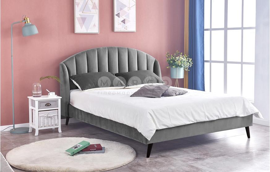 Кровать YOVELLA 160 серый/черный 105: фото - Margo.ua