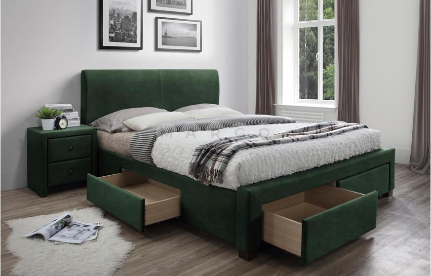 Кровать MODENA 3 160 зеленый 106: фото - Margo.ua