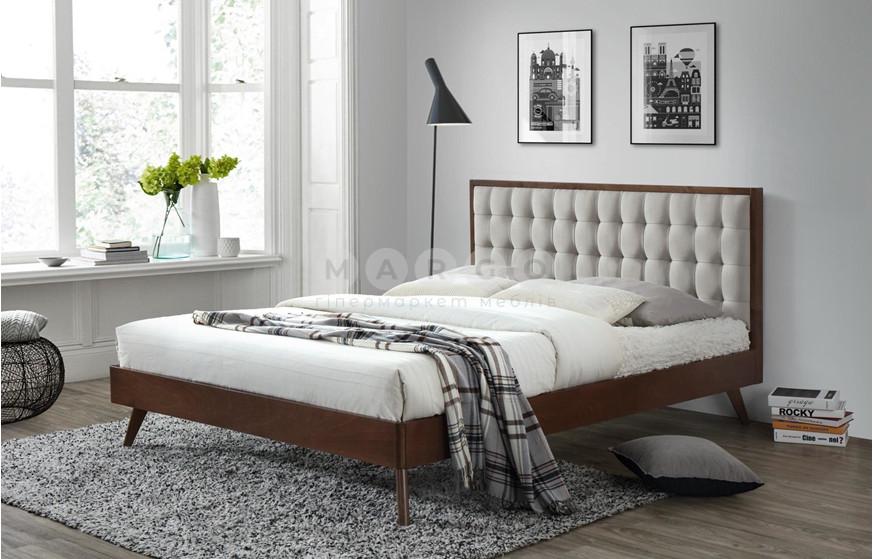 Кровать SOLOMO 160 бежевый/орех 106: фото - Margo.ua