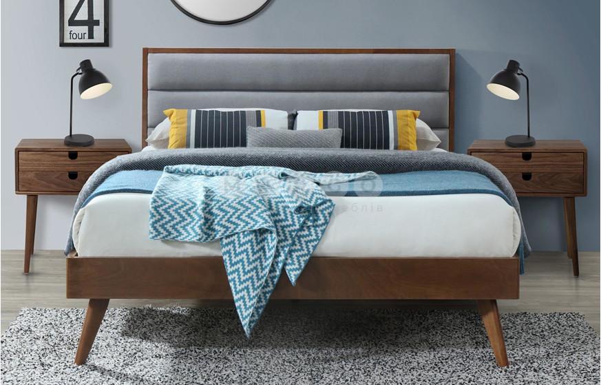 Кровать ORLANDO 160 серый/орех 106: фото - Margo.ua