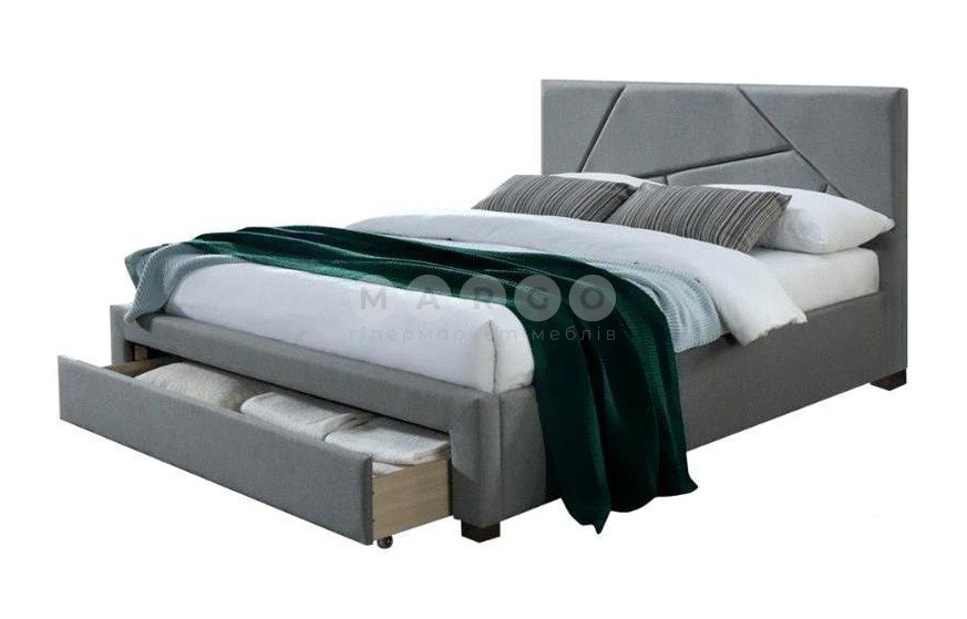 Кровать VALERY 160 серый/орех 102: фото - Margo.ua
