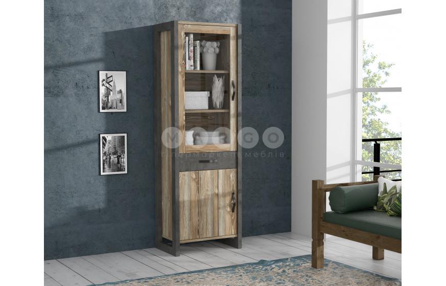 Гостиная (комплект №1) NOTE бетон темно-серый/сосна Picea: фото - Margo.ua