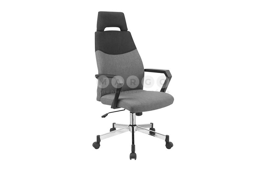 Кресло OLAF черный/серый 113-121: фото - Margo.ua