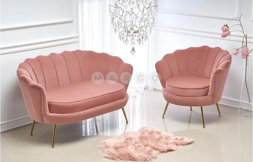 Кресло AMORINITO светло-розовый/золотой 77: фото - Margo.ua