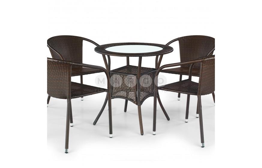 Стол MIDAS темно-коричневый темно-коричневый 74: фото - Margo.ua