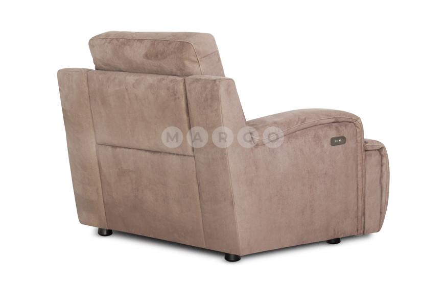 Кресло с электро реклайнером U108 коричневый 96: фото - Margo.ua
