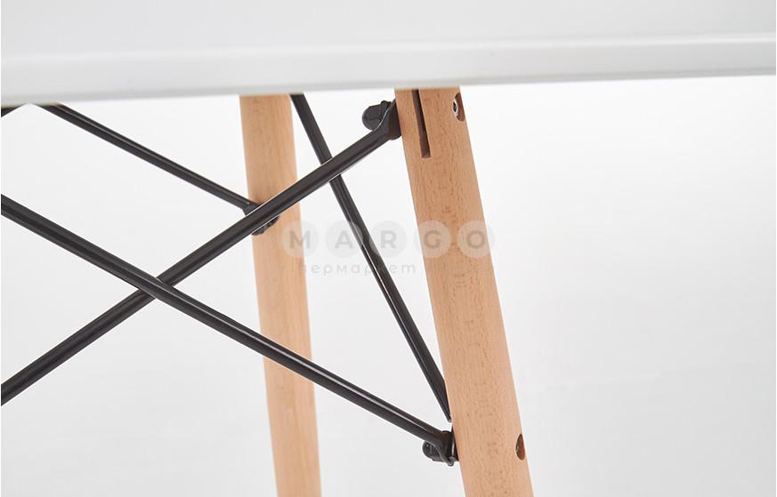 Стол PROMETHEUS KWADRAT белый/дуб сонома 75: фото - Margo.ua