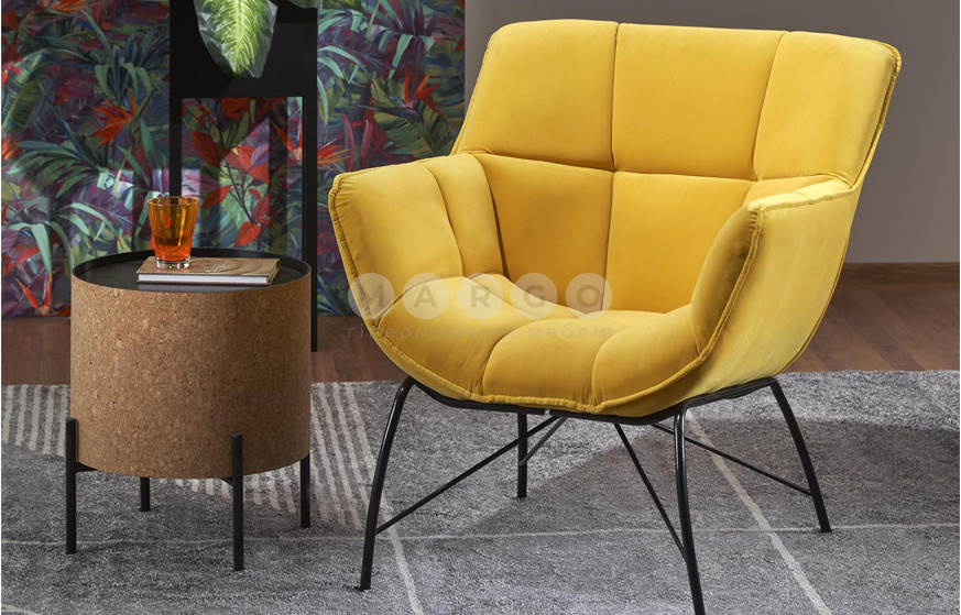 Кресло BELTON желтый 78: фото - Margo.ua