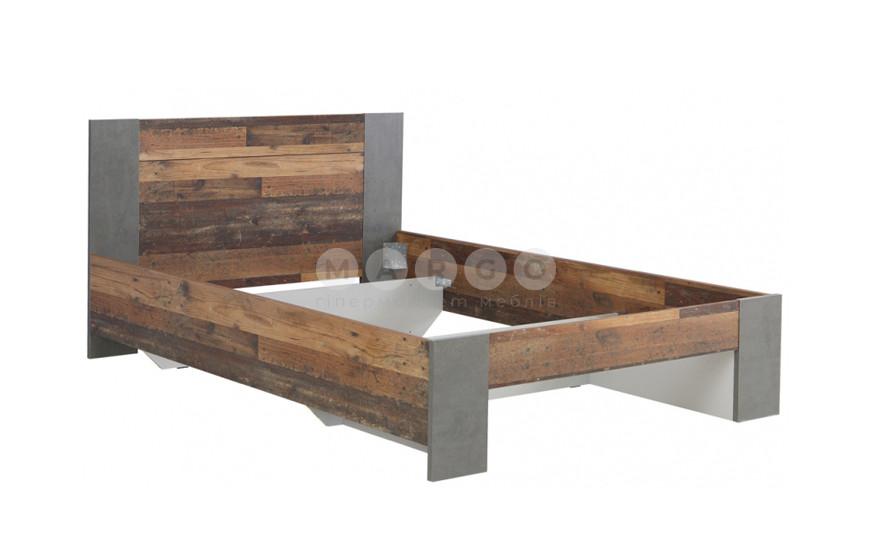 Кровать 1,4 CLIF старое дерево винтаж/бетон темно-серый 90,5: фото - Margo.ua
