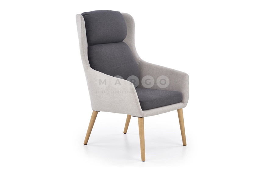 Кресло PURIO серый 103: фото - Margo.ua